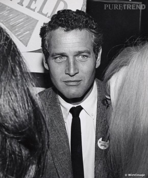 Action 1 : le mâle, le vrai L'idôle : Paul Newman, idole des femmes, jette un regard apeuré à ses fans en pamoison.