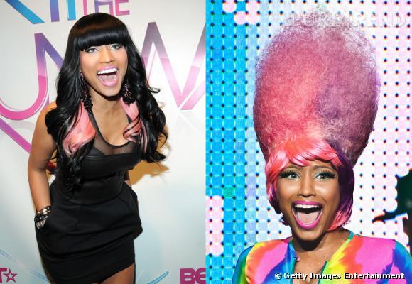 L'évolution coiffure de Nicki Minaj