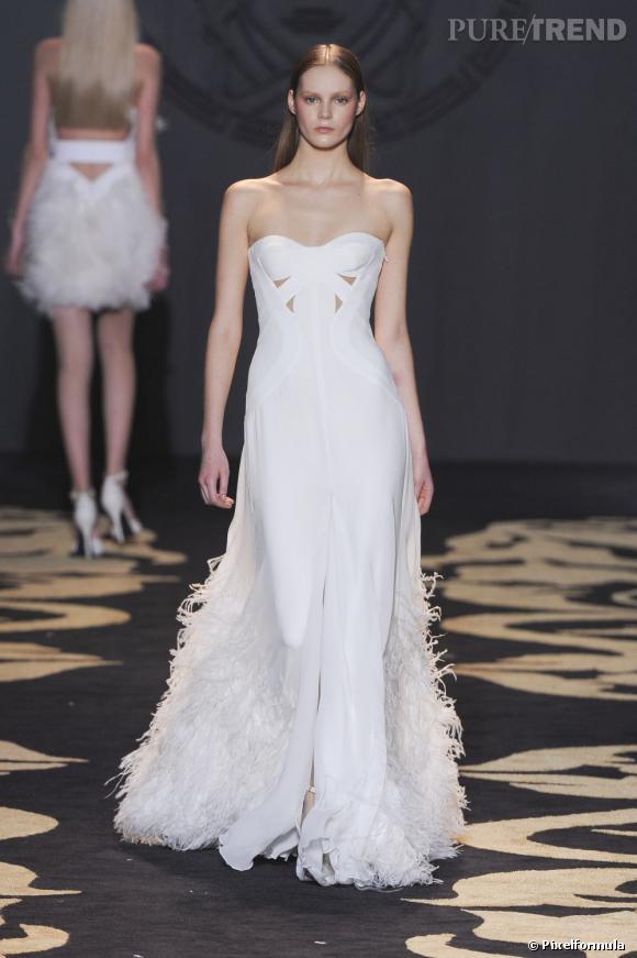 Défilé Versace automne-hiver 2011-2012.