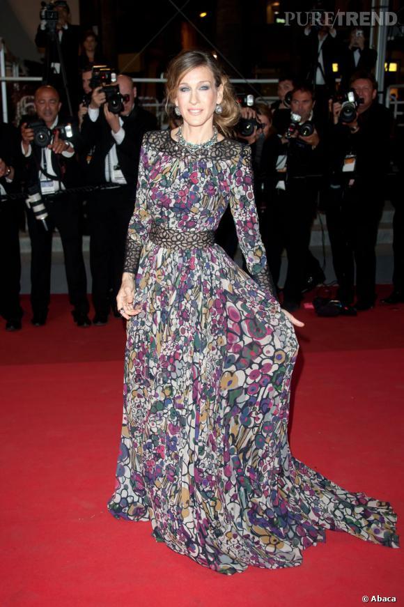 Comme beaucoup d'actrices américaines, SJP est une adepte des robes Elie Saab sur le tapis rouge.