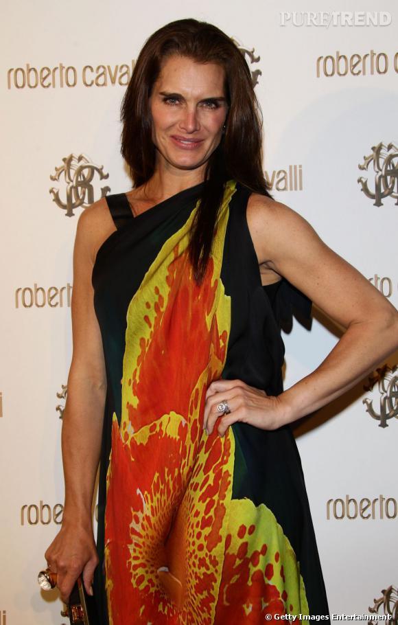 Brooke Shields au dîner Cavalli, à Cannes.