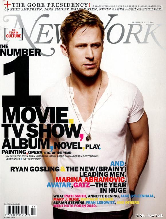 Ryan et son fameux t-shirt blanc font la couv de New York Magazine.