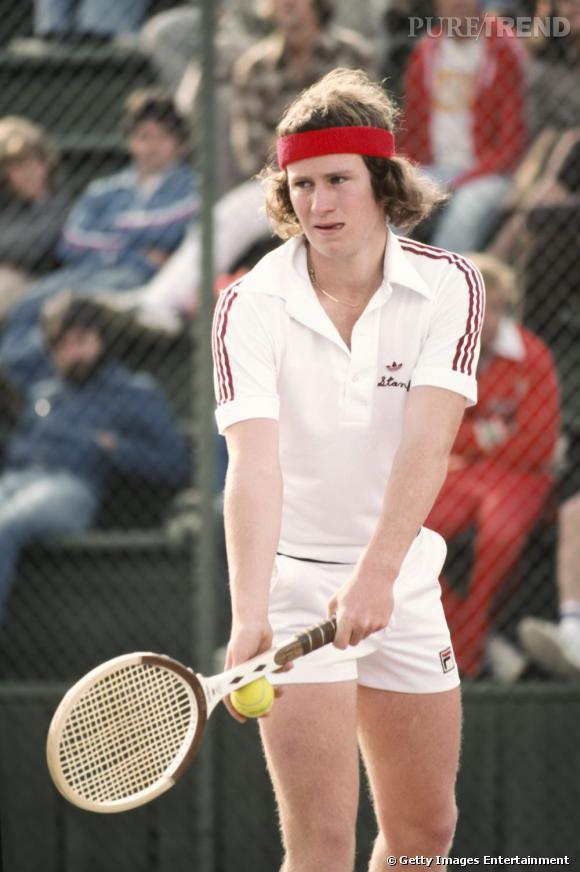 John McEnroe, alias Big Mac, est une des légendes du tennis. Côté look, les années 70 sont bien cruelles... Avec ses airs de jeune homme de bonne famille, on a du mal à croire qu'il ait aussi mauvais caractère !