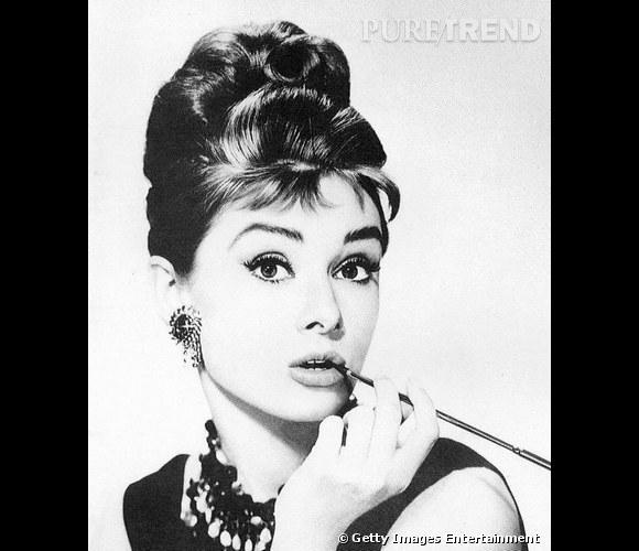 Le fameux chignon d'Audrey Hepburn.