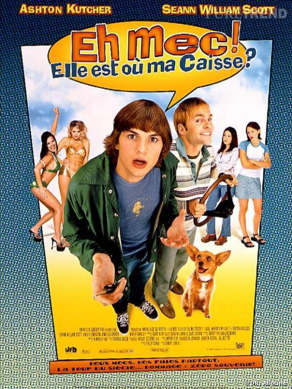 L'acteur : Ashton Kutcher Le film : Eh mec, elle est où ma caisse ? Le rôle : Ashton  joue le rôle de Jesse, un jeune beau gosse d'une vingtaine d'années qui  a oublié où sa voiture était garée. Toute l'intrigue du film tourne  donc autour de la recherche du fourgon. À priori, il s'agit d'un bon  rôle de looser.