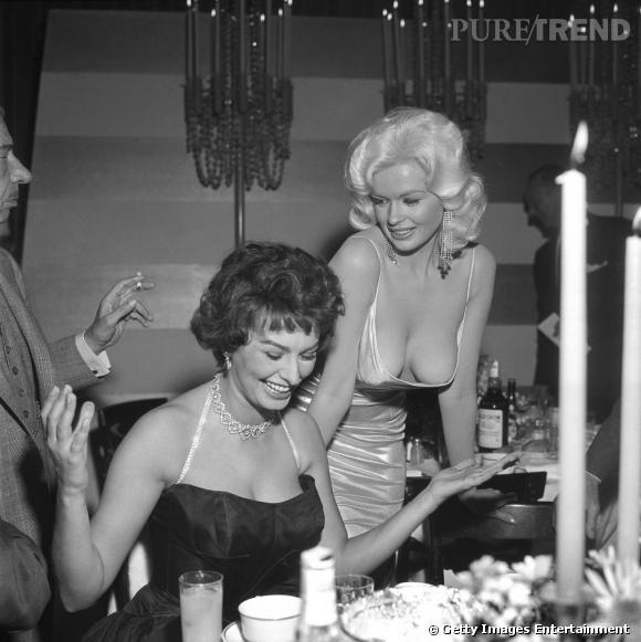 Oops ! Ou comment voler la vedette à Sophia Loren ? Signé Jayne Mansfield.