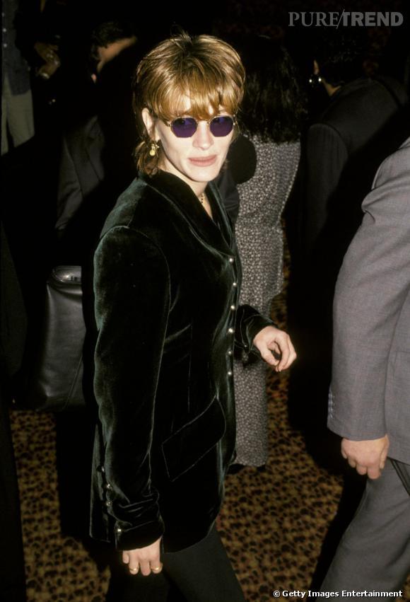 """La pire """"coiffure"""" :   on sommes dans le regret de vous annoncer que même Julia Roberts a, un jour, porté le mulet. Oui."""