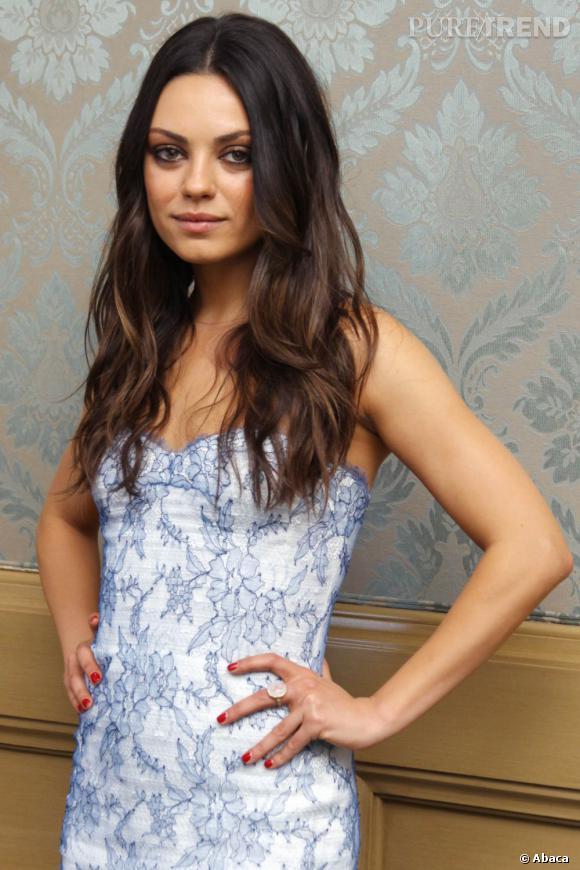 """Mila Kunis en conférence de presse pour le film """"Friends with Benefits"""", à Cancun."""