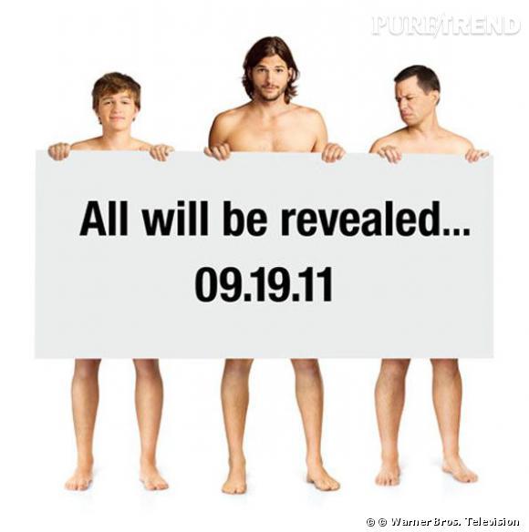 """Ashton Kutcher se met à nu pour la série """"Mon Oncle Charlie""""."""
