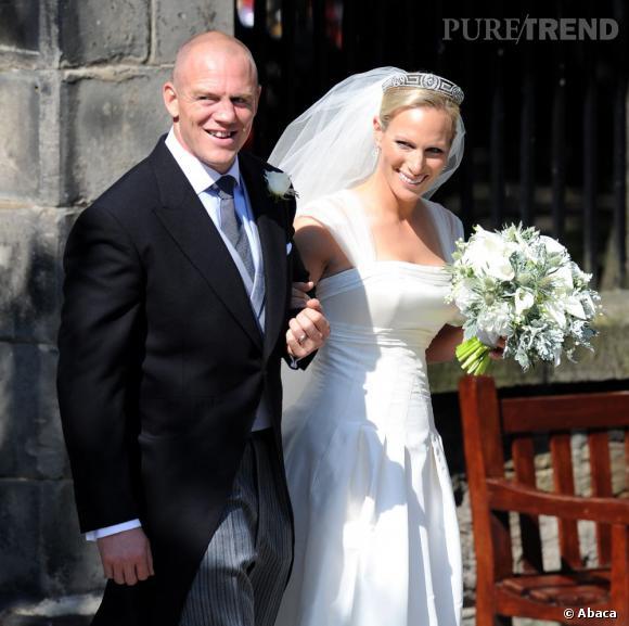Zara Phillips lors de son mariage avec le rugbyman Mike Tindall à Édimbourg.
