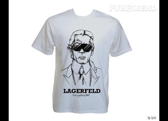 "T-shirt ""Karl Lagerfeld"", BBP, à shopper sur  www.modeavenue.fr , 35 €."