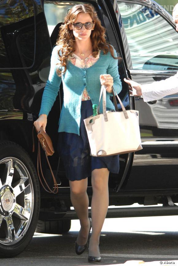 """Jennifer Garner sur le tournage de """"The Odd Life Of Timothy Green"""" à Los Angeles."""