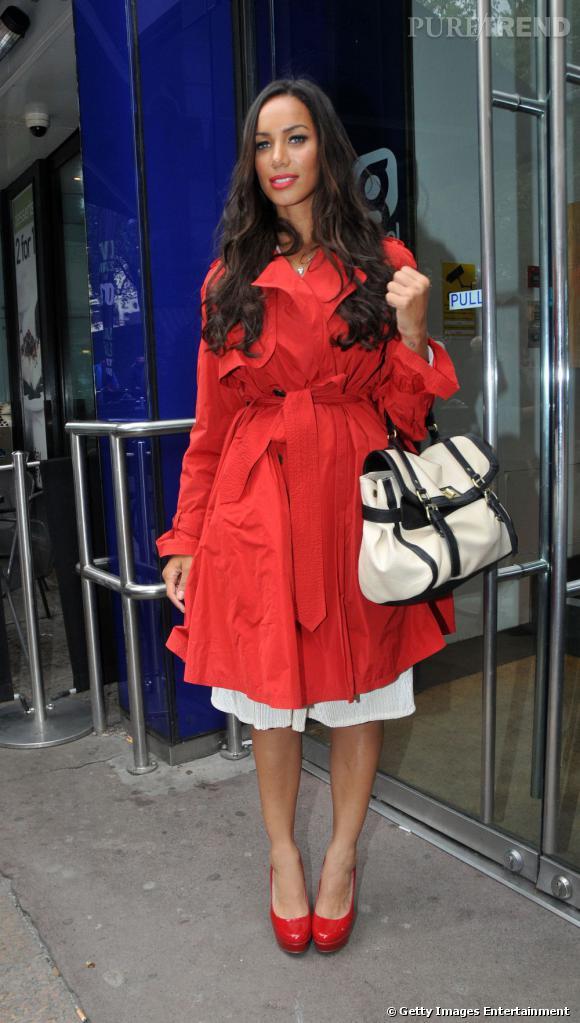 Leona Lewis dans les rues de Londres.