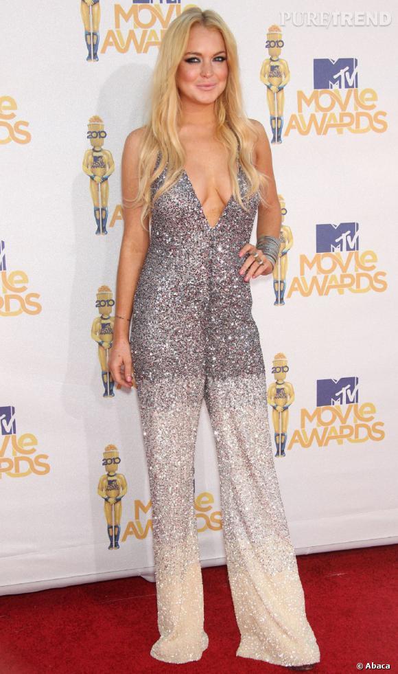Lors des MTV Movie Awards, Lindsay est juste dramatique.