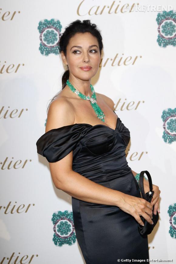 """Monica Bellucci invitée à la soirée """"Sortilège de Cartier"""" à Rome."""