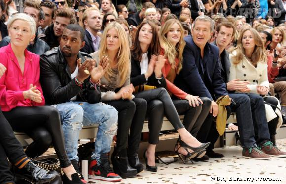 Du beau monde chez Burberry avec Ellie Goulding, Kanye West, Sienna Miller, Gemma Arterton, Rosie Huntington-Whitley, Mario Testino, Andy Murray et Kim Sears.