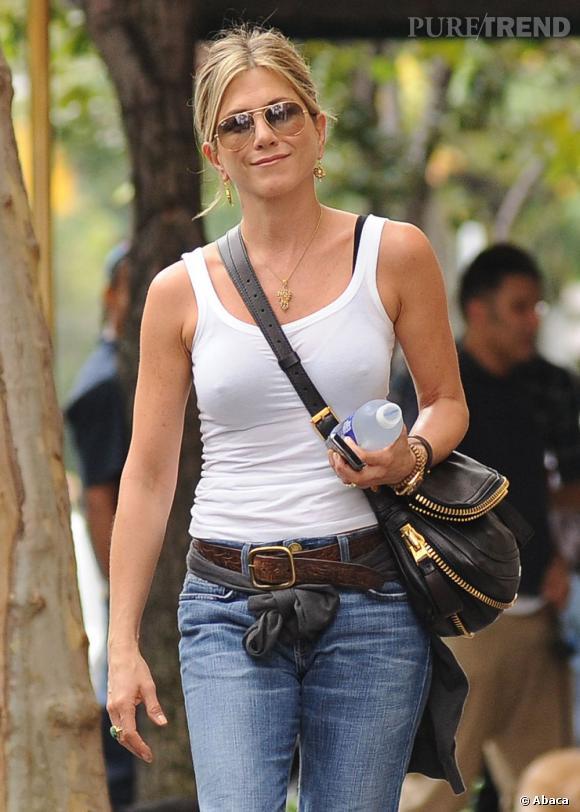 Jennifer Aniston en balade dans les rues de New York.
