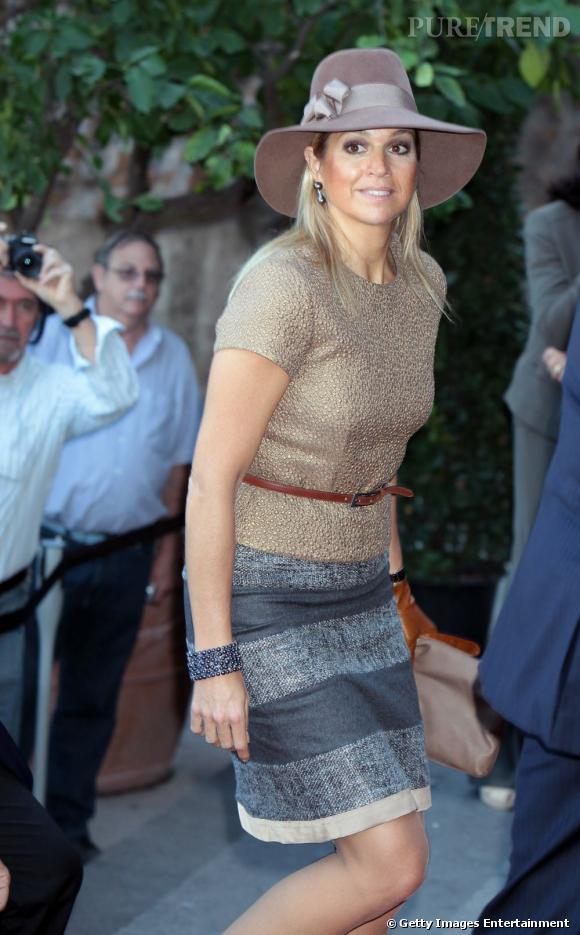 Princesse Maxima en visite officielle à Rome mêle chic et mode.