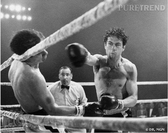 """Elu meilleur film de la décennie en 1990, """"Raging Bull"""" réalisé en noir et blanc par Martin Scorsese relate l'histoire du boxeur Jake LaMotta incarné par Robert DeNiro jusqu'à son ascension."""