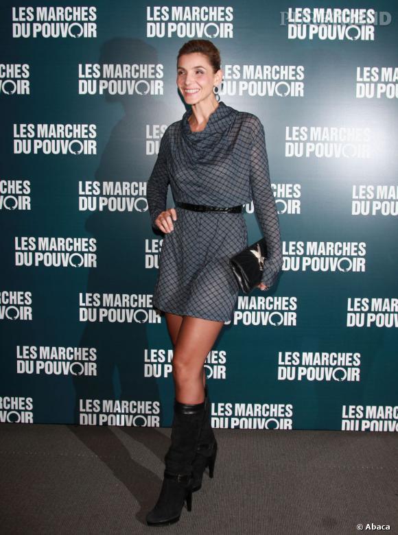 """Clotilde Courau à la projection du film """"Les Marches du Pouvoir""""."""