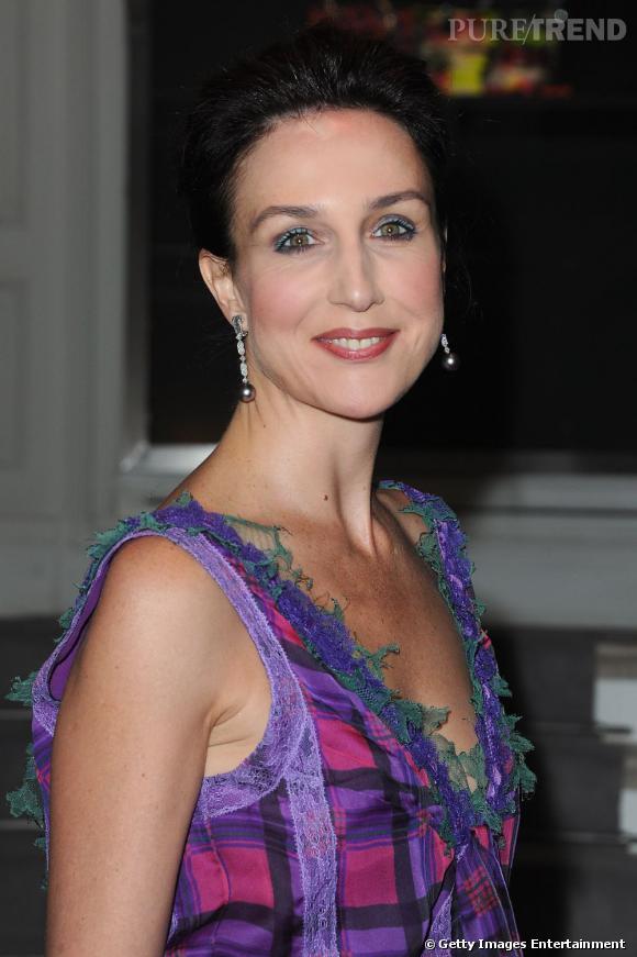 Elsa Zylberstein lors du dîner Dior organisé en l'honneur de l'artiste Anselme Reyle à Paris.