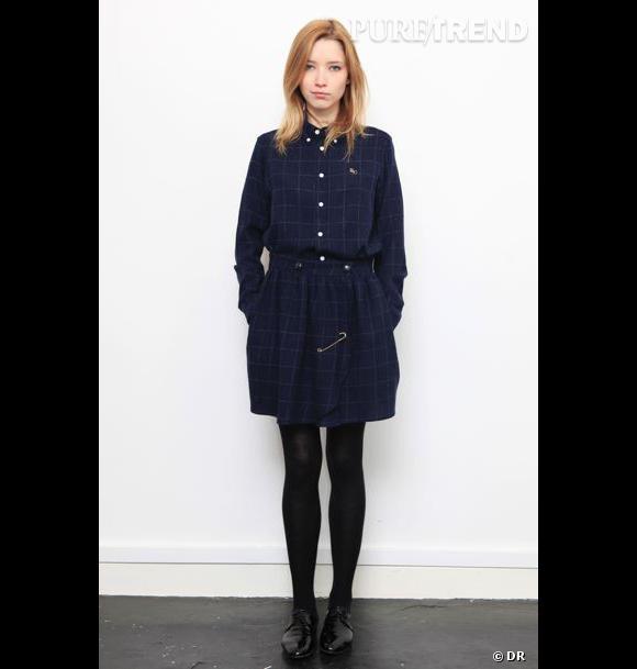 La mode made in France : Bérangère Claire Chemise, 145 € et jupe, 125 €. www.berangereclaire.fr