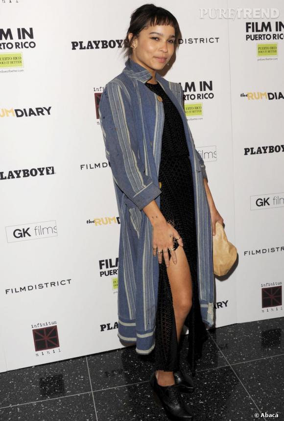 """Zoë Kravitz lors de la première du film """"The Rum Diary"""" à New York."""