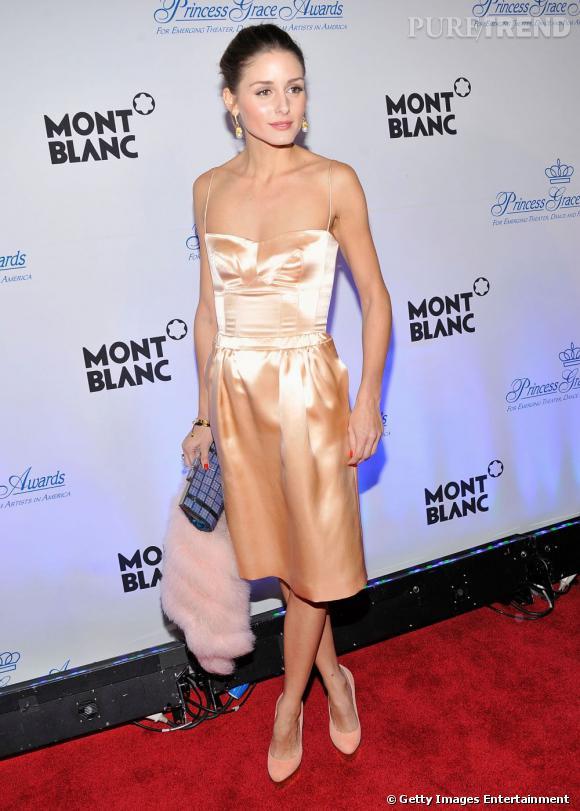 Olivia Palermo en Rochas au gala de la fondation Princesse Grace à New York.