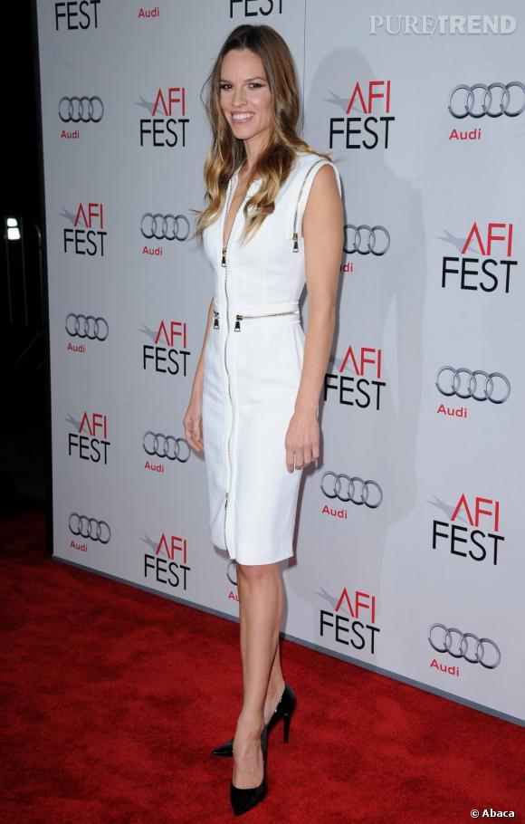 Hilary Swank à la soirée de projection du nouveau film de Clint Eastwood.