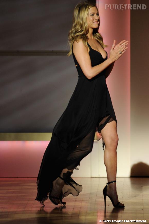 Jennifer Aniston, sexy à la soirée Glamour Women Of The Year à New York.