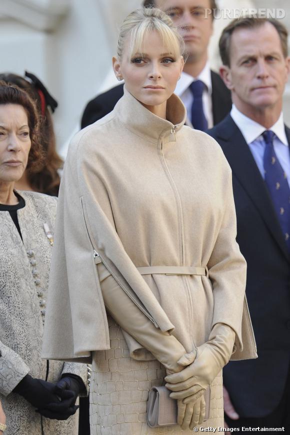 Charlene Wittstock célèbre la journée nationale monégasque le 19 novembre dernier.