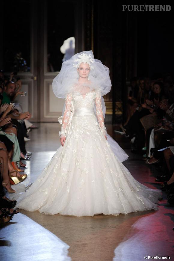 une robe de mariée Haute Couture Zuhair Murad A copier : la coupe de ...
