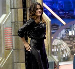 Salma Hayek, joueuse tout en cuir