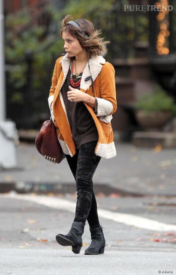 Zoë Kravitz dans les rues de New York.