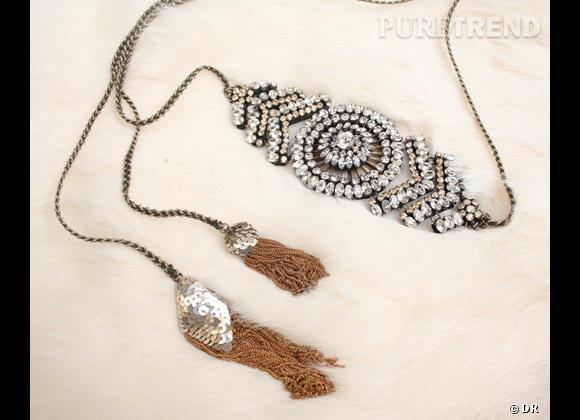Accessoire cheveux : un bijou de tête pour les fêtes Headband/ceinture Shourouk, 439 €.