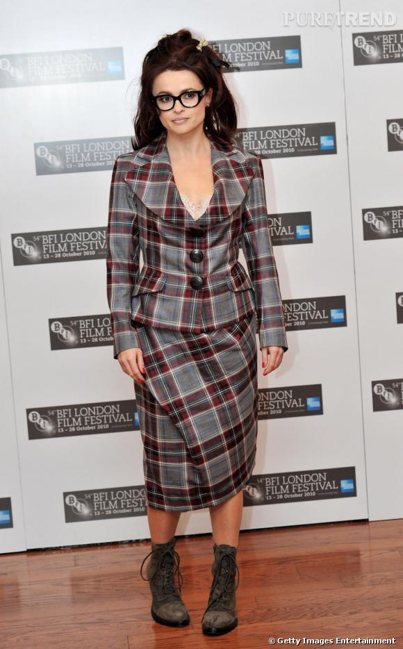 Helena Bonham Carter a sa propre vision de ce que doit être un tailleur.