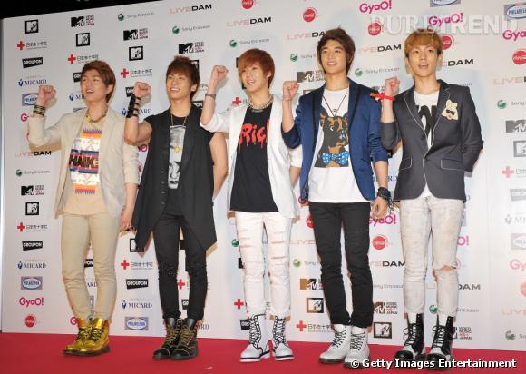 Les 5 garçons de SHINee autre groupe de K Pop très médiatisé pour son style  vestimentaire