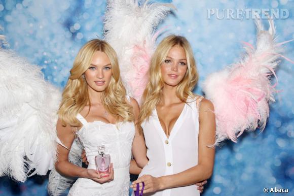 Candice Swanepoel et Erin Heatherton, deux Anges Victoria's Secret nommés en 2010.