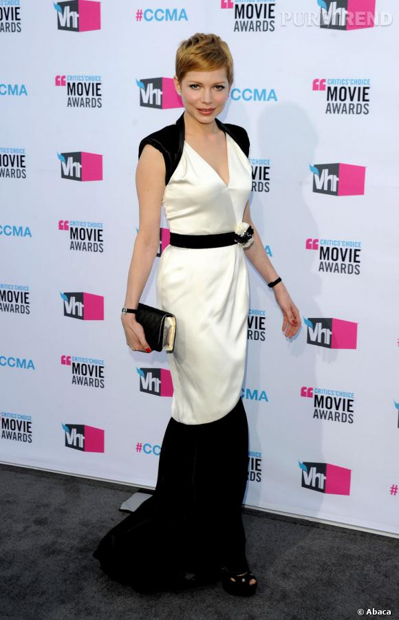 Michelle Williams aux Critics' Choice Awards 2012.