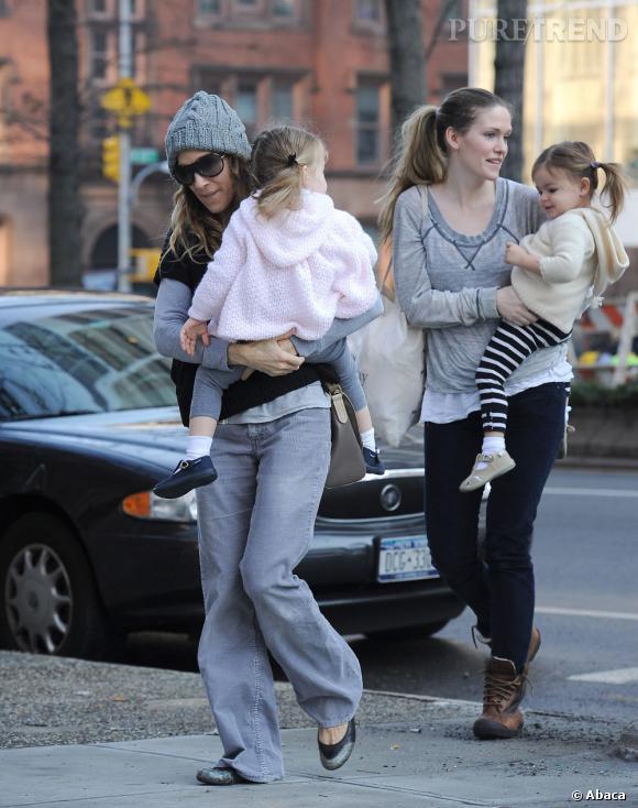 Superposition de vêtements et jean XL ne rendent pas service à Sarah Jessica Parker.