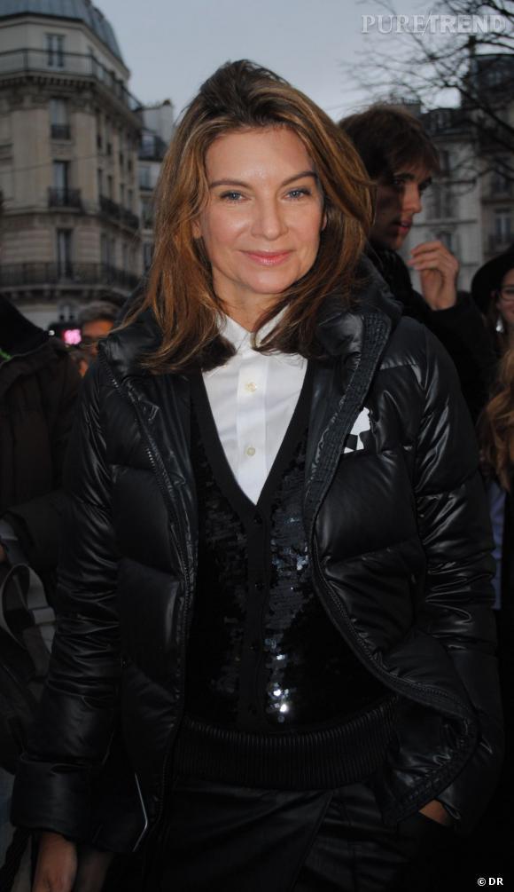 Nathalie Massenet, fondatrice de Net-a-Porter en total look KARL au lancement de la ligne Place Saint Germain des Près à Paris.