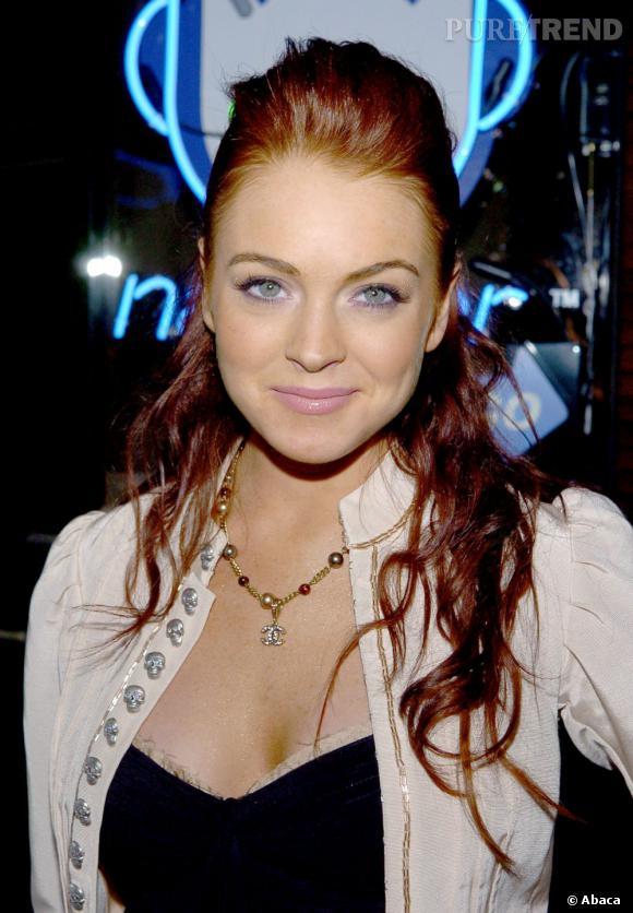 Avant :  Lindsay Lohan, la belle rouquine pleine de fraicheur.