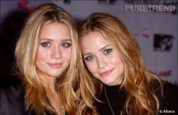 Avant :  Mary-Kate Olsen (à droite), l'une des baby stars les plus célèbres d'Hollywood.