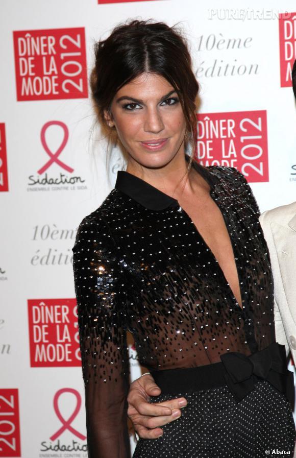 Bianca Brandolini d'Adda au dîner de la mode 2012 à Paris.