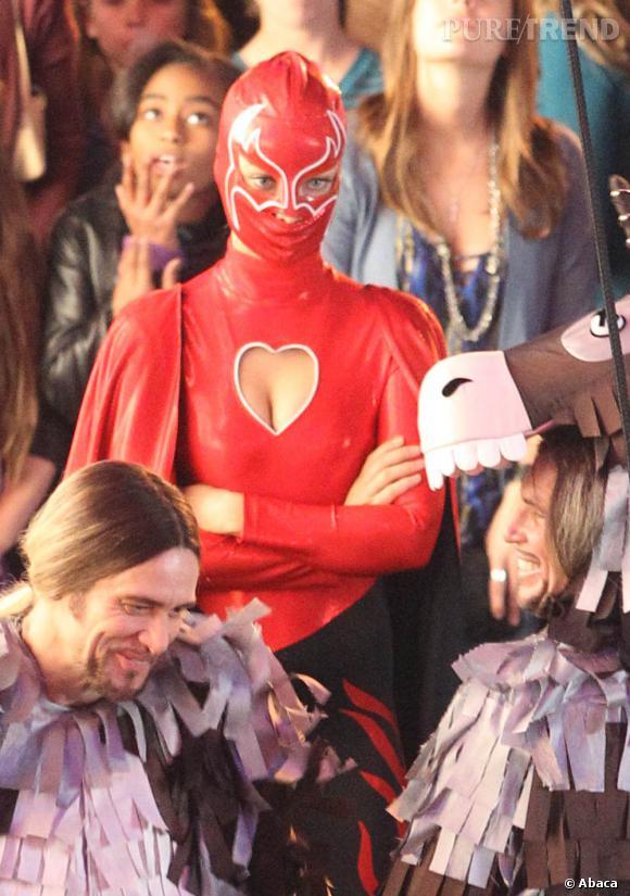 """Olivia Wilde sur le tournage du film """"Burt Wonderstone"""" à Los Angeles."""