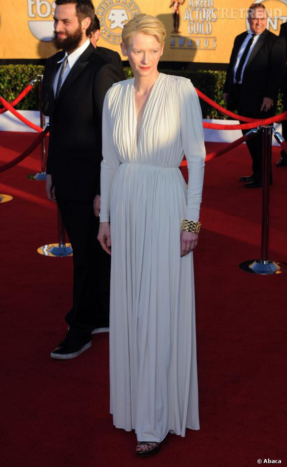 Tilda Swinton lors des Screen Actors Guild Awards à Los Angeles.