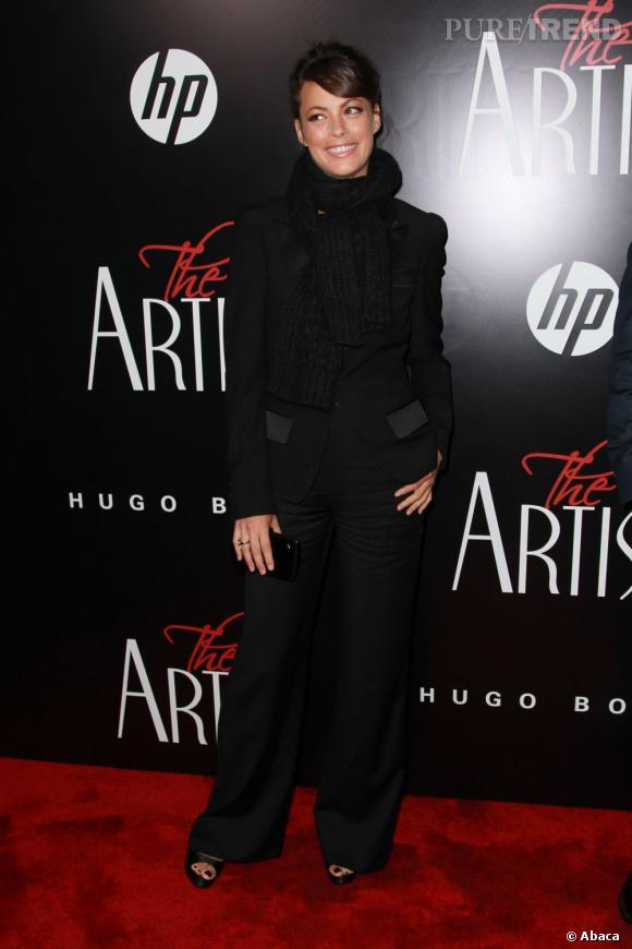 """Bérénice Bejo fête la première de """"The Artist"""" à New York."""