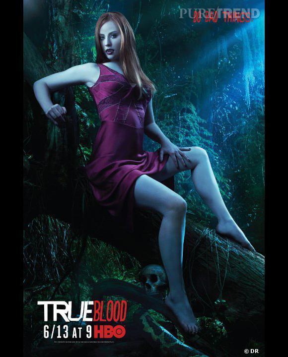 """N°3 :  Deborah Ann Woll alias Jessica, la baby vampire sexy de """"True Blood""""."""