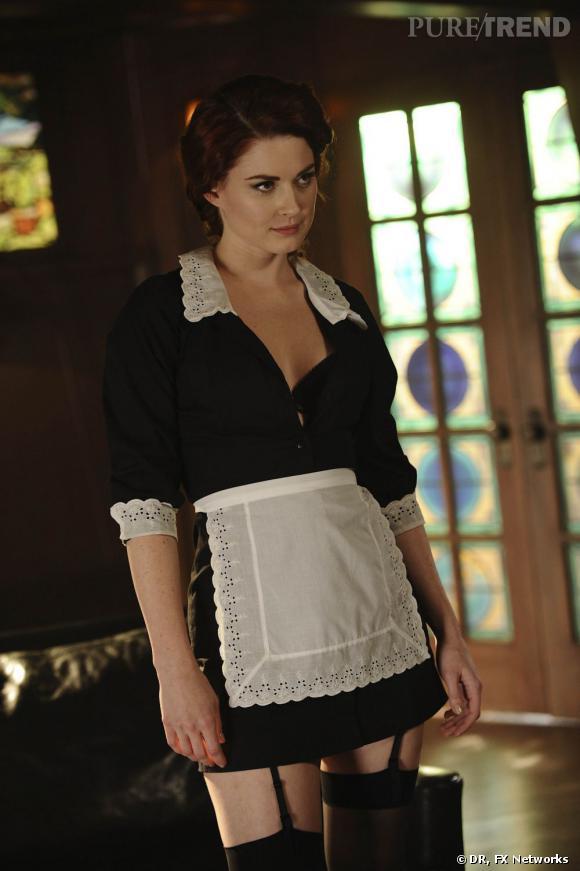 "N°5 :  Frances Conroy alias Moira O'Hara, la soubrette machiavélique de la série ""American Horror Story""."