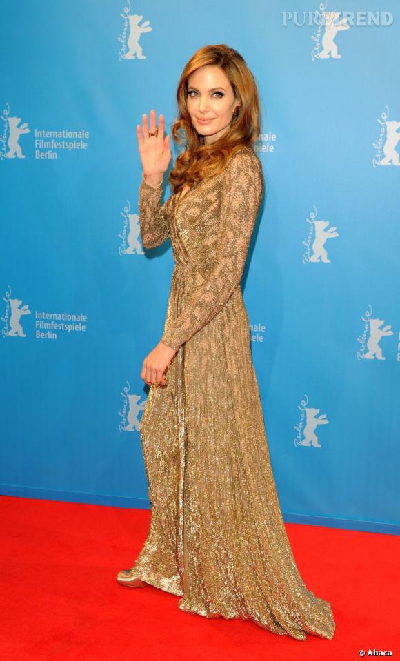 Pour la première de son film à Berlin, Angelina Jolie sort le grand jeu.